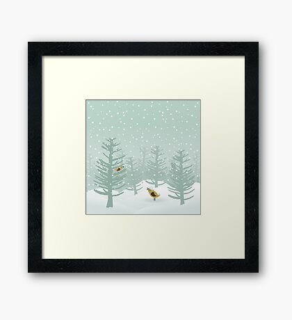 Winter wood2 Framed Print