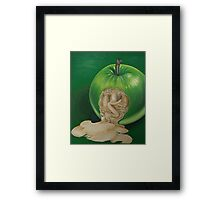 From the Apple & Eve Series, Green Apple: A new awareness  Framed Print