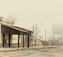 Foggy Morning at the Station - Antique Styled by photograham