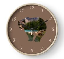 Bear at the Lake Clock