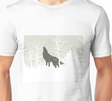 Wolf in wood Unisex T-Shirt