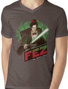 May the Fez be With You Mens V-Neck T-Shirt