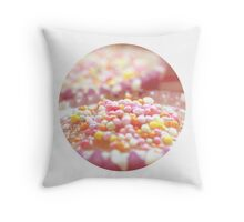 Cupcake sprinkles Throw Pillow