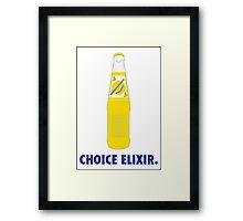 CHOICE ELIXIR.  Framed Print