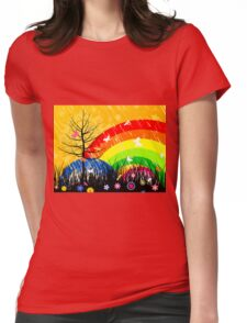 Wood3 Womens Fitted T-Shirt