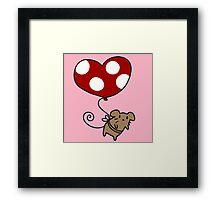 Heart Balloon Mouse Framed Print