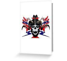 Ram skull  rider  Greeting Card