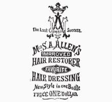 Old Ads - Mrs S. A. Allen's Improved Hair Restorer Baby Tee