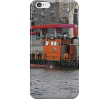 Tugboat on the Moscow River iPhone Case/Skin
