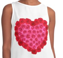 Red and pink rose heart. Contrast Tank