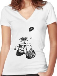 Wall e Women's Fitted V-Neck T-Shirt