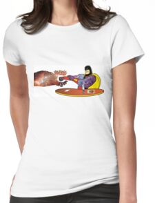 The Real Space Ghost Womens Fitted T-Shirt