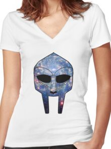 Space DOOM Women's Fitted V-Neck T-Shirt