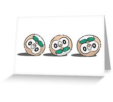 Rowlet Roll Greeting Card