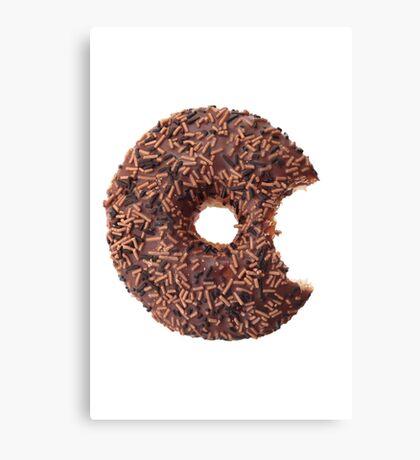 Doughnut with a bite Canvas Print