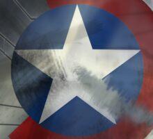 Worn Steve & Bucky Unshielded Half Shield  Sticker