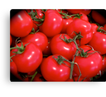 JUICY RED TOMATOES Canvas Print