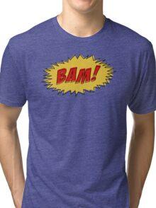 Bam - Comic Book Sound Tri-blend T-Shirt