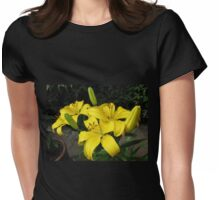 Lemon Lilies in the Lamplight Womens Fitted T-Shirt