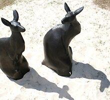 Swell Kangaroo Sculptures by Robyn Williams