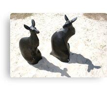 Swell Kangaroo Sculptures Canvas Print