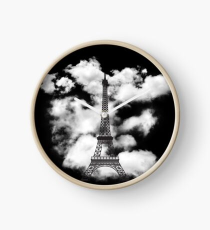 Paris Eiffel Tower Skyline Clock