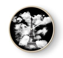 Paris Eiffel Tower Skyline Clock