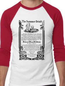 Old Ads - The Summer Drink, Pabst Blue Ribbon Men's Baseball ¾ T-Shirt