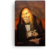 Welcome to Blackwood Castle Halloween Canvas Print