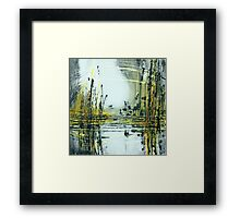Silvery Moon over Golden Lake Framed Print