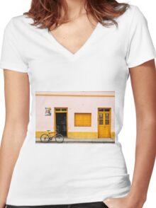 Schneider Cerveza Women's Fitted V-Neck T-Shirt