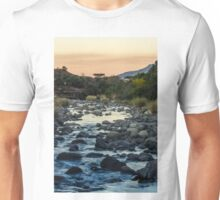 River below Cathedral Peak, RSA Unisex T-Shirt