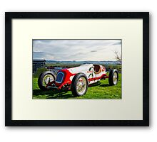 Vintage Indy Car Circa 1929 Framed Print
