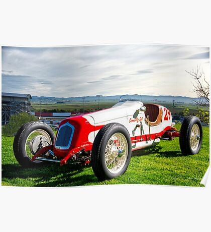 Vintage Indy Car Circa 1929 Poster