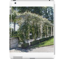 The Marble Pergola in the Gardens, Rosecliff Mansion iPad Case/Skin