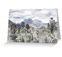 Mt Warning in Cloud Greeting Card