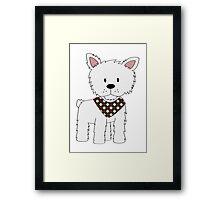 Bandana Puppy - White Terrior Framed Print
