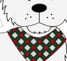 Bandana Puppy - White Terrior Sticker