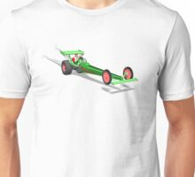 Santa Claus In Dragster Unisex T-Shirt