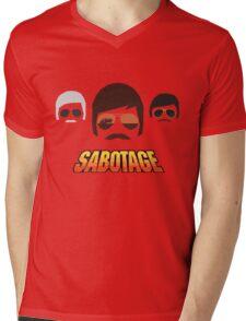 Beastie Boys - Sabotage Cartoon Mens V-Neck T-Shirt