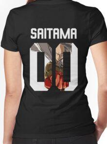One Punch Man - Saitama Women's Fitted V-Neck T-Shirt