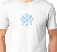 Blue,  snowflake, winter, New Year, Christmas, snow Unisex T-Shirt