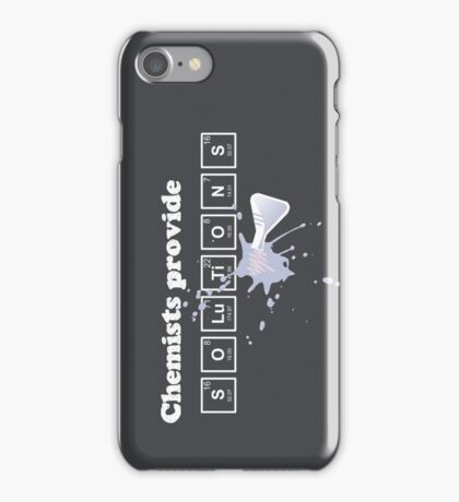 Chemists Provide Solutions iPhone Case/Skin