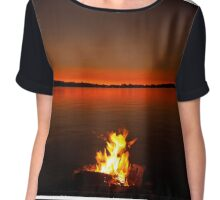 smoke on the water, bala bay Chiffon Top