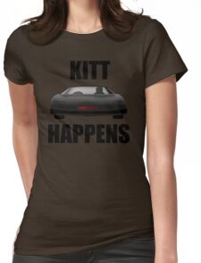 Knight Rider - Kitt Happens Womens Fitted T-Shirt
