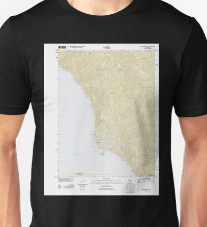 USGS TOPO Map California CA Shelter Cove 20120322 TM geo Unisex T-Shirt