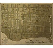 Toronto, Vintage City Map c. 1908 Photographic Print