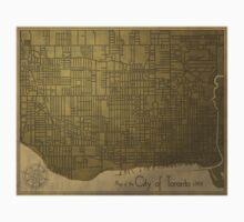 Toronto, Vintage City Map c. 1908 One Piece - Short Sleeve