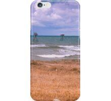 Fishing rigs in sea. iPhone Case/Skin
