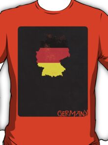 Germany Minimalist Vintage Map with Flag T-Shirt